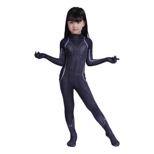 Kids Black Widow Natalia  3D Printed Jumpsuit Suit Cosplay Costume
