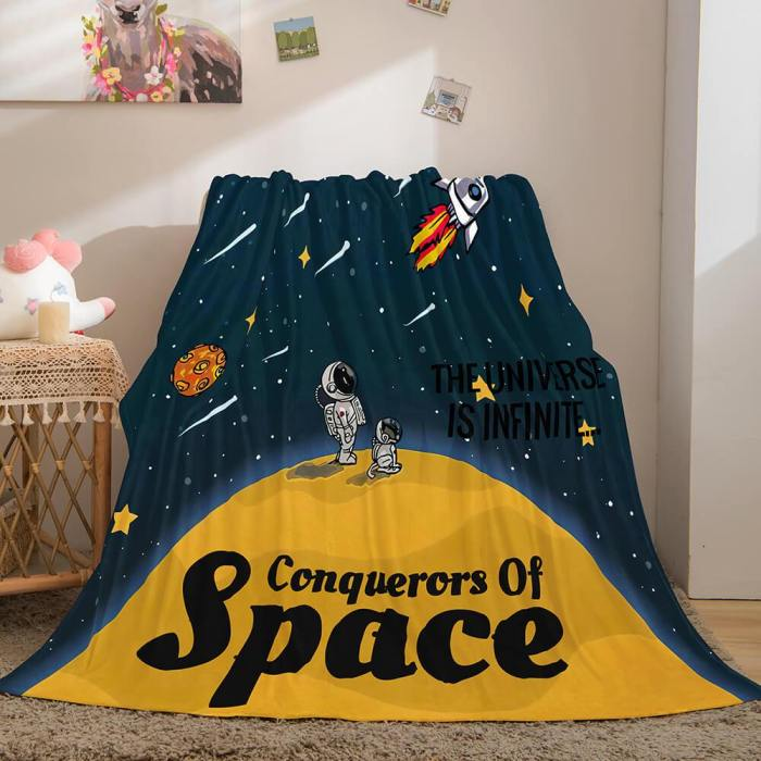 Conquerors Of Space Flannel Caroset Throw Cosplay Blanket Comforter Set