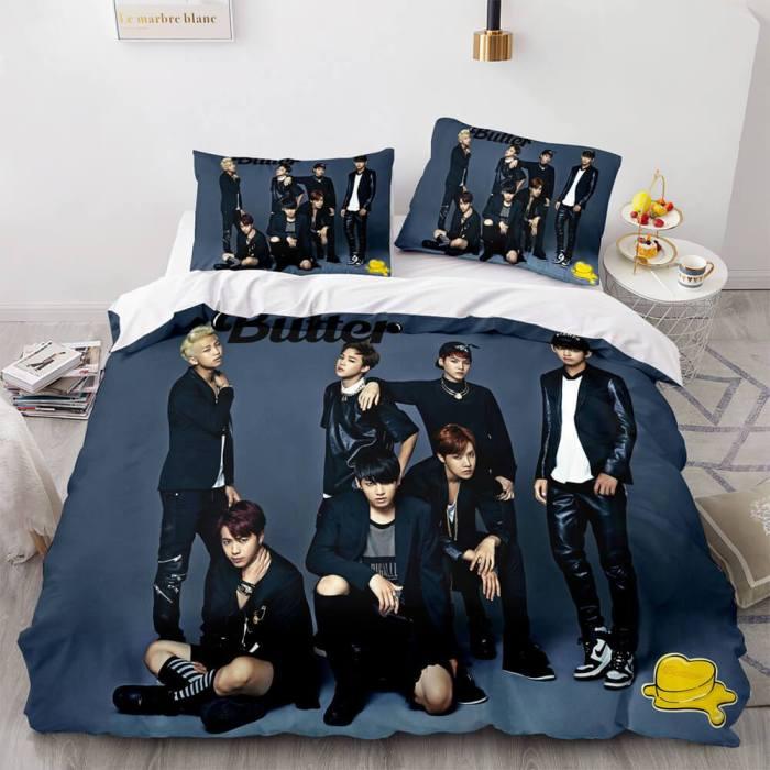 Bts Butter Cosplay Bedding Sets Soft Duvet Covers Comforter Bed Sheets