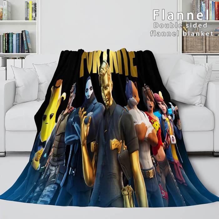 Fortnite Cosplay Flannel Blanket Throw Blanket Comforter Bedding Sets