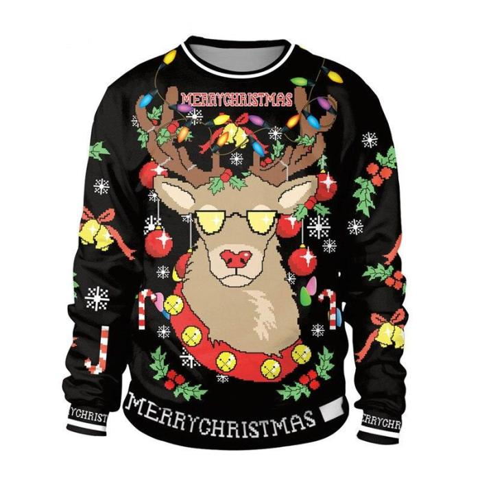 Ugly Christmas Sweater For Gift Funny Pullover Thin Sweater Womens Mens Jerseys Tops Autumn Winter Clothing Xmas Lady