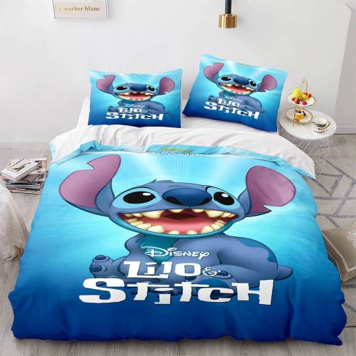 Lilo And Stitch Cosplay Comforter Bedding Set Duvet Covers Bed Sheets