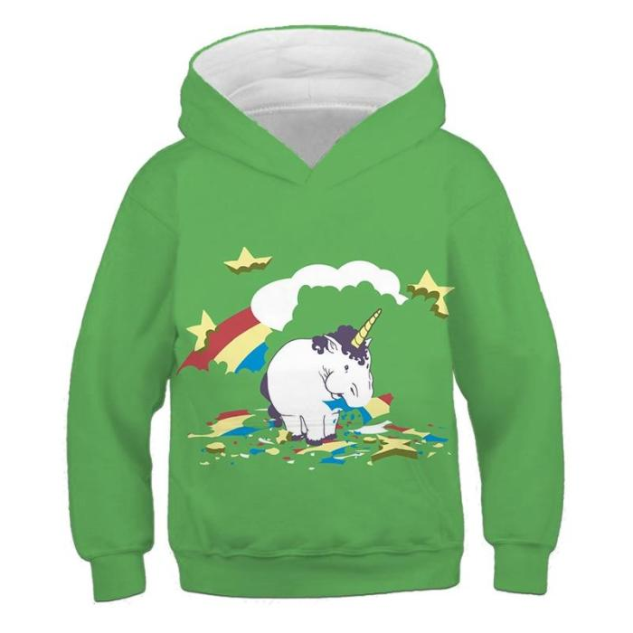 Funny Wow Dog Hoodies Kids Cartoon Unicorn Sweatshirts For Boys Girls 3D Print Children'S Comfortable Clothes Sports Autumn