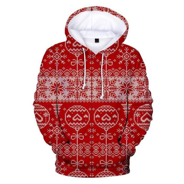 Ugly Christmas Sweater Christmas Unisex Men Women Christmas Novelty Snowman 3D Print Hooded Sweater Warm Sweater Streetwear