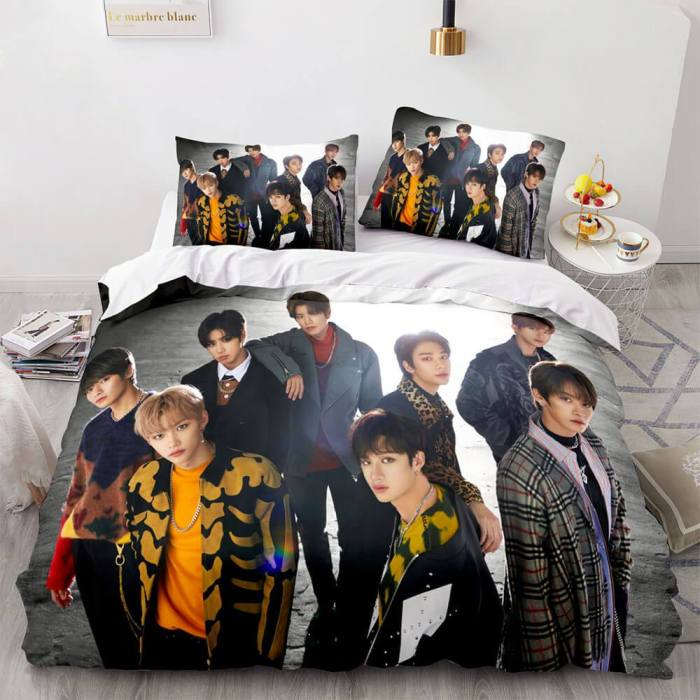 Jyp Stray Kids Cosplay Soft Bedding Sets Duvet Covers Bed Sheets