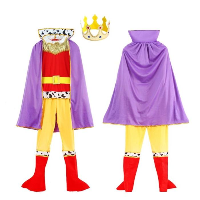 King Costume Kids Medieval Knight Costume Fancy Dress Halloween Party Outfit