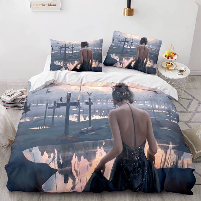 Ghost Knife Cosplay Bedding Sets Duvet Covers Comforter Bed Sheets