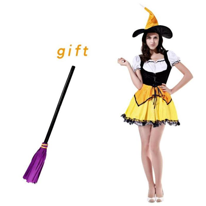 Halloween Witch Costumes Adult Anime Cosplay Women Sexy Cosplay Party Fancy Dress With Hat Christmas Gift