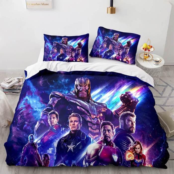 Avengers Cosplay Bedding Set Duvet Cover Comforter Bed Sheets