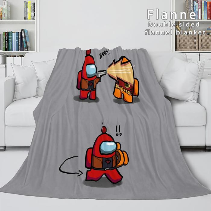 Among Us Soft Flannel Blanket Fleece Throw Blanket Bedding Sets