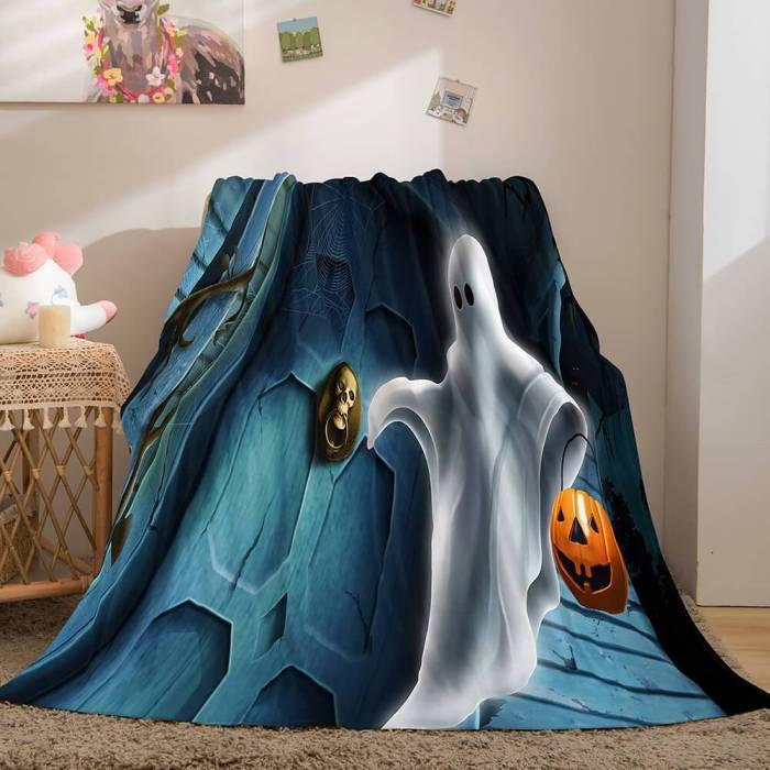Halloween Flannel Caroset Throw Cosplay Blanket Comforter Set