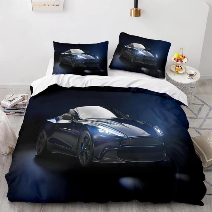 Aston Martin Car Cosplay Comforter Bedding Set Duvet Covers Bed Sheets