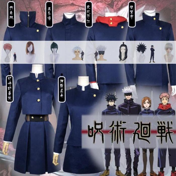 Anime Jujutsu Kaisen Yuji Itadori Nobara Kugisaki Megumi Fushiguro Ryomen Sukuna Kimono Uniform Cosplay Costume