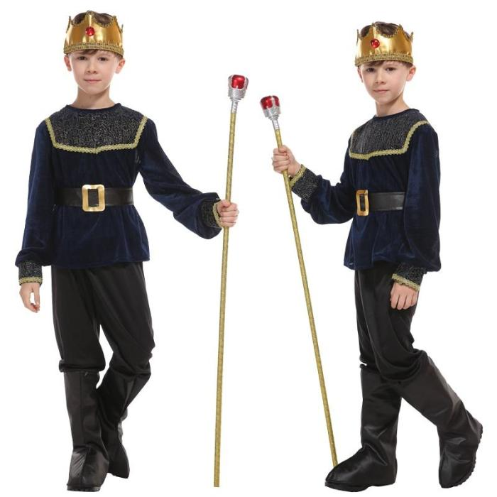 Halloween Anime Dress Roman Soldier Warrior Costume Children Cosplay King Prince Christmas Gifts No Weapon
