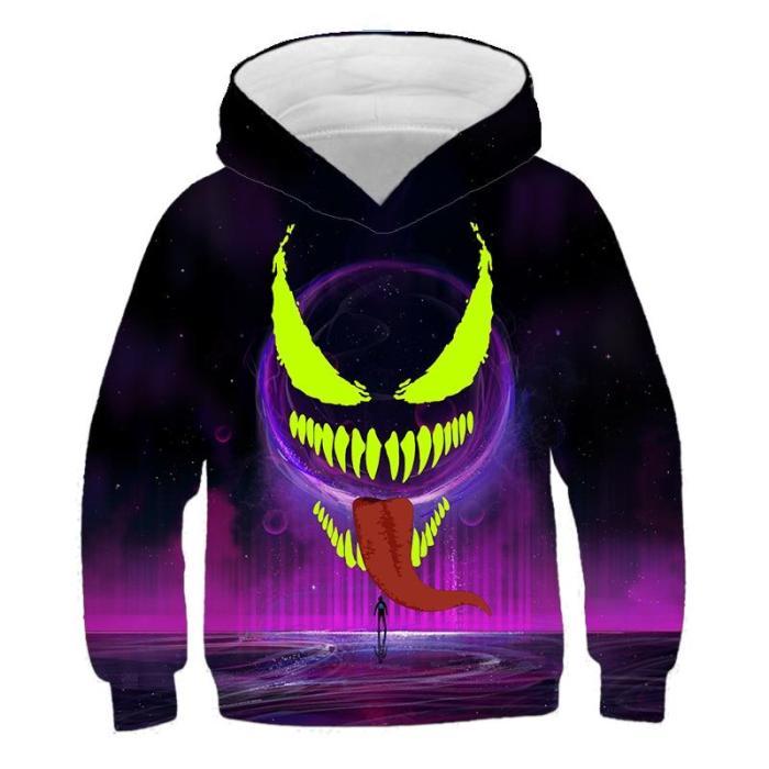 Boys Sweatshirt Xo Graffiti Hoodies Cool Fashionable Children Autumn 3D Printed Hoodie Girl Animal Pullover Hoodies Sweater