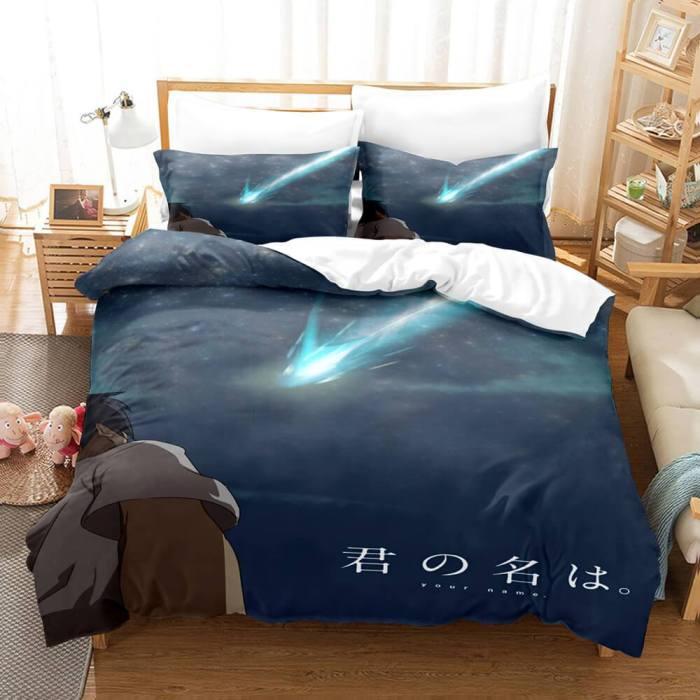 Anime Kizuna Ai Cosplay Bedding Set Duvet Covers Comforter Bed Sheets