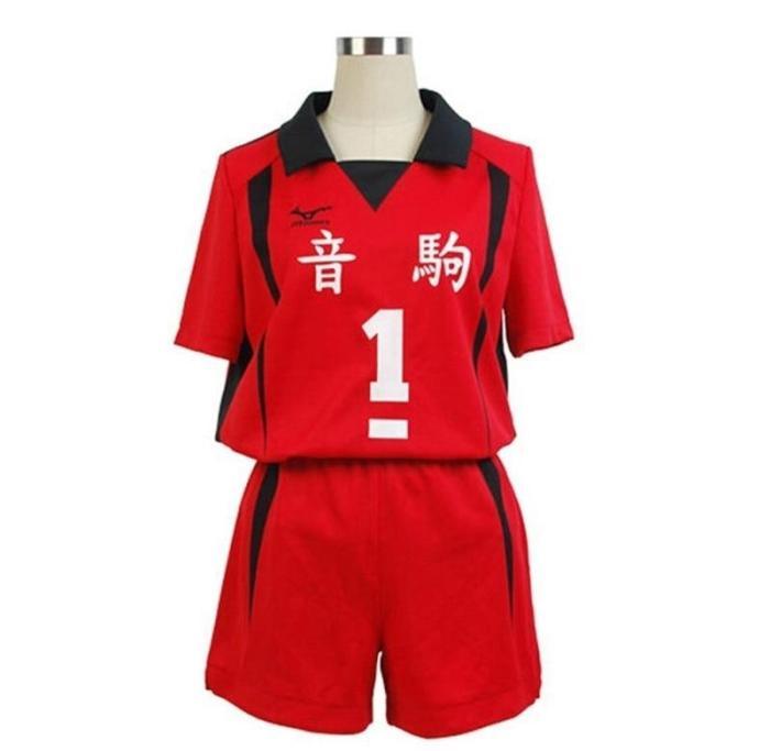 Haikyuu!! Nekoma High School Cosplay Costume No 1 Tetsurou Kuroo No 5 Kenma Kozume Cosplay Jersey Sports Wear Uniform Size S-Xxl