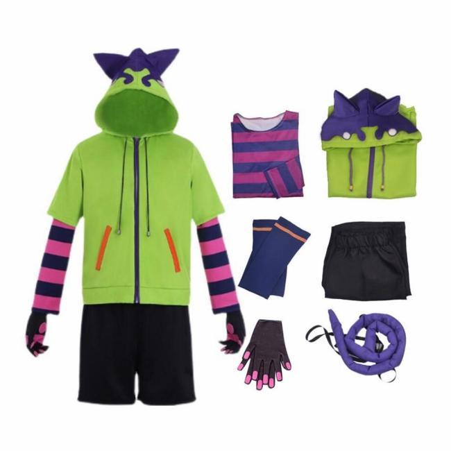 Anime Sk8 The Infinity Miya Chinen Hoodie Cosplay Costume Uniform Set