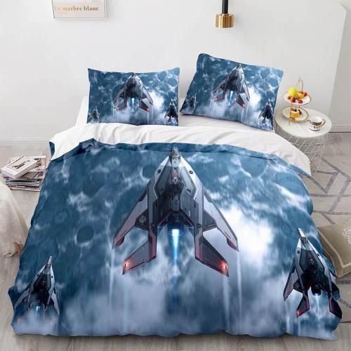 Star Citizen Bedding Sets 3 Piece Duvet Covers Comforter Bed Sheets