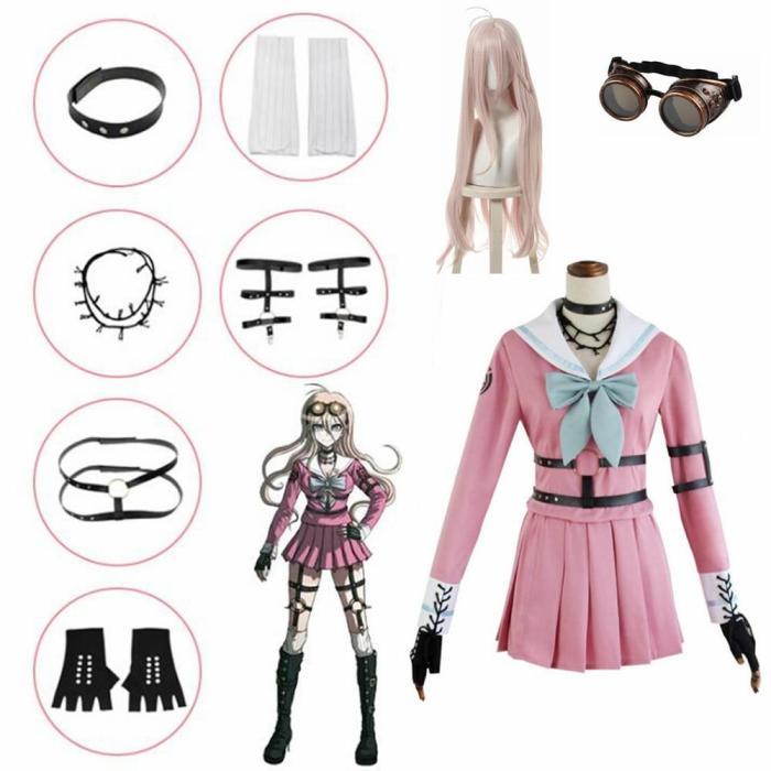 Anime Danganronpa V3 Miu Iruma Cosplay Costumes Women Dress Girls Uniforms Clothing