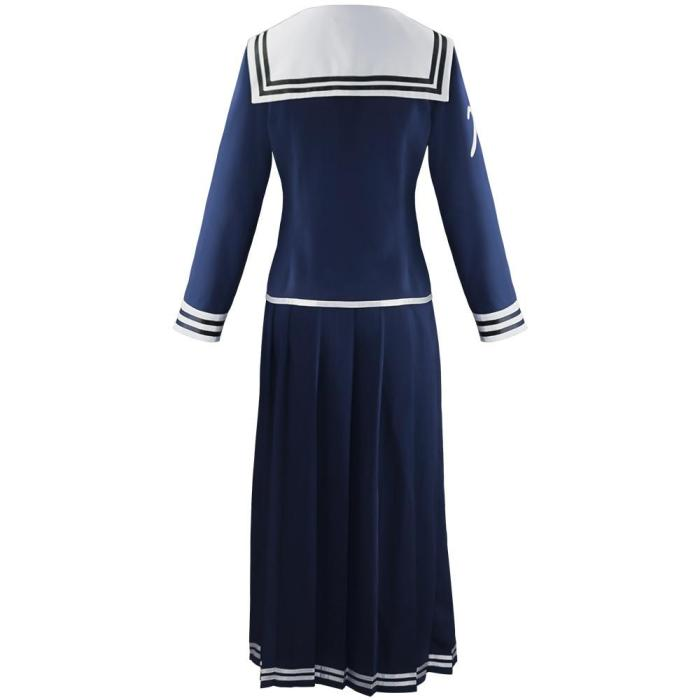 High Quality Super Danganronpa Toko Fukawa Cosplay Costume School Uniform Halloween Party Cosplay Uniform (Top + Skirt + Scarf)