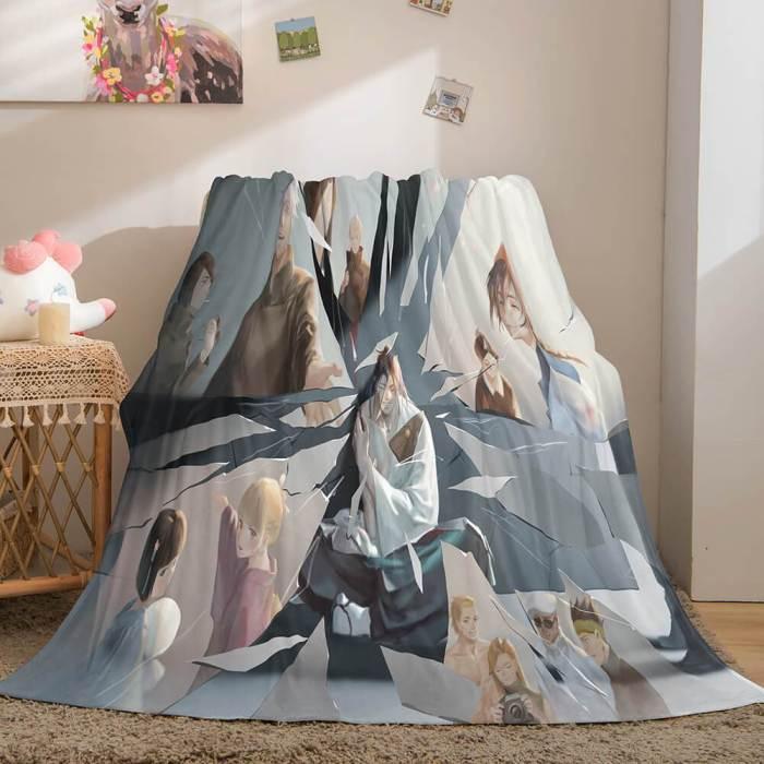Anime Jujutsu Kaisen Flannel Throw Cosplay Blanket Comforter Set