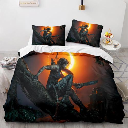 Tomb Raider Cosplay Comforter Bedding Sets Duvet Covers Bed Sheets