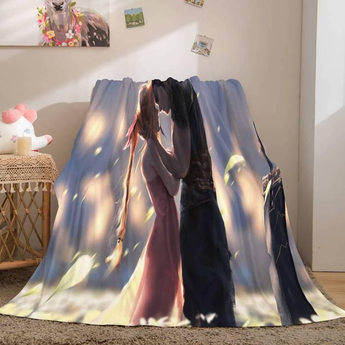 Ghost Blade Cosplay Flannel Fleece Blanket Comforter Bedding Sets
