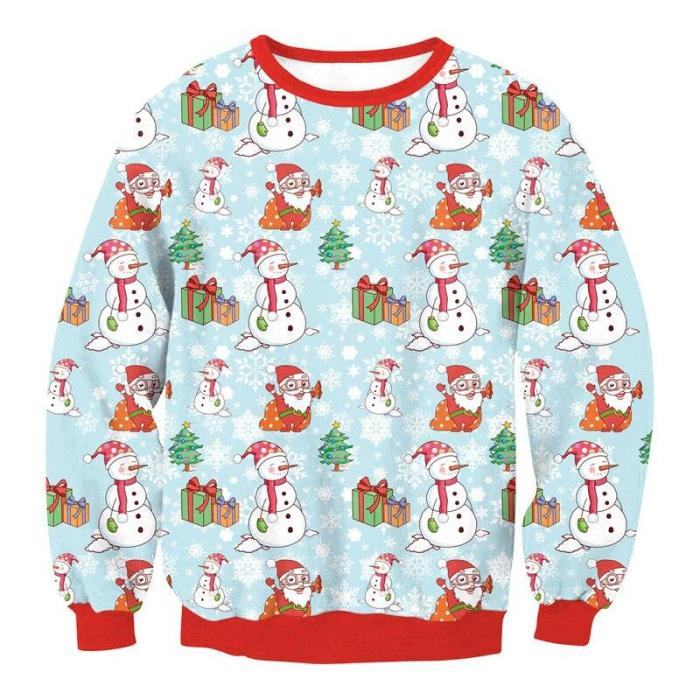 Ugly Christmas Sweater Unisex Men Women Vacation Pullover Funny Sweaters Tops Autumn Winter Clothing Round Neck Streetwear
