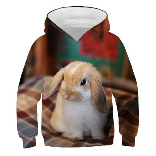 Baby Girls Clothes Sweety Cute Rabbit 3D Print Hoodies Kids Sweatshirts Hoodie Sweater For Children Outwfits Baby Boys Long Tops