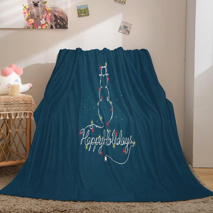 Merry Christmas Flannel Blanket Throw Blanket Comforter Bed Sets