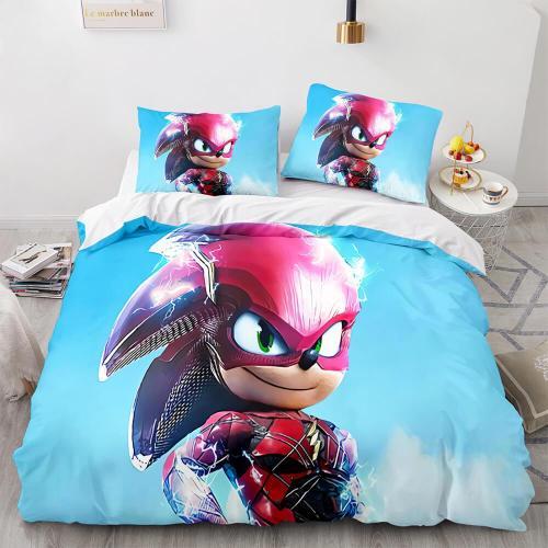Sonic The Hedgehog Comforter Bedding Set Duvet Covers Bed Sheets