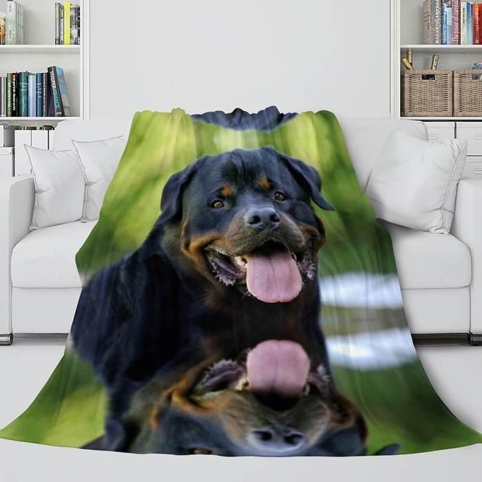 Pet Puppy Dog Flannel Blanket Comforter Bedding Sets For All Seasons