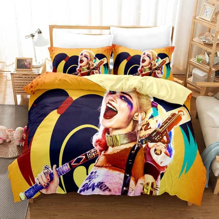 The Suicide Squad Bedding Set Duvet Cover Comforter Bed Sheets