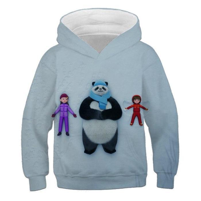 Children Cute Panda Serise Hoodies For Girls Kids Clothes Anime Cartoon Hoodie Boys Sweatshirts Autumn Long Sleeve Pullovers