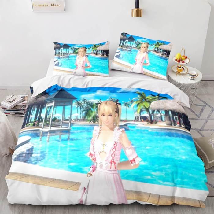 Doaxvv Honoka Cosplay Bedding Set Duvet Cover Comforter Bed Sheets