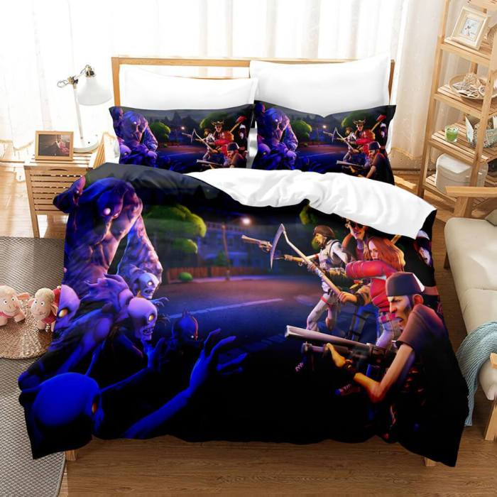 Fortnite And Dj Marshmello Cosplay Bedding Set Duvet Covers Bed Sheets
