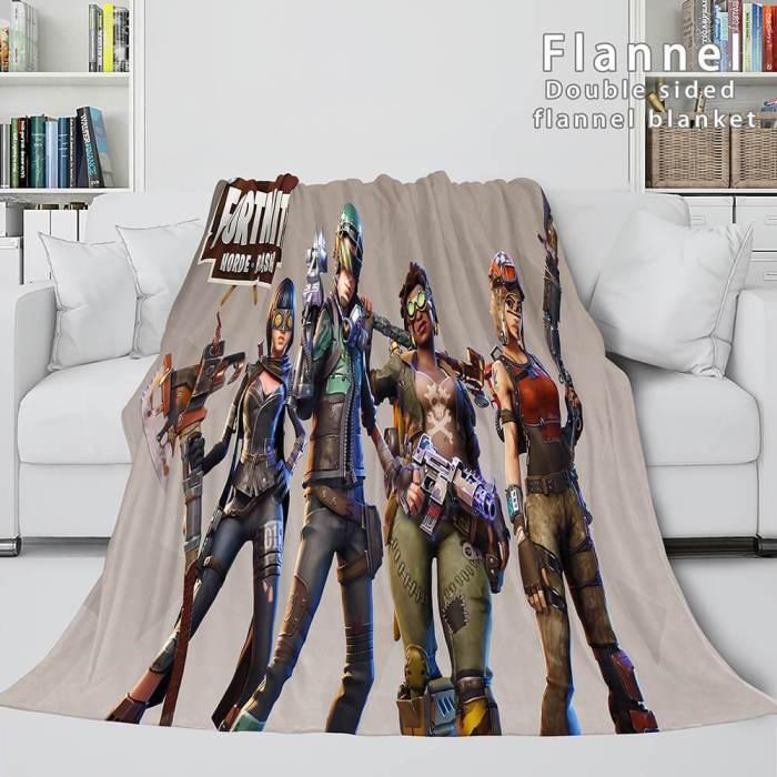 Fortnite Cosplay Flannel Blanket Throw Blanket Wrap Nap Comforter Sets
