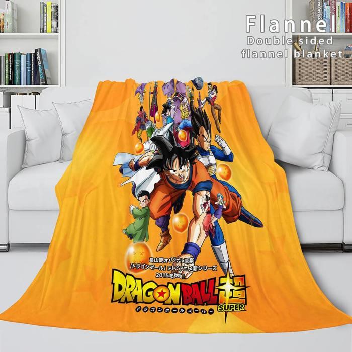 Dragon Ball Cosplay Flannel Blanket Throw Soft Comforter Bedding Sets
