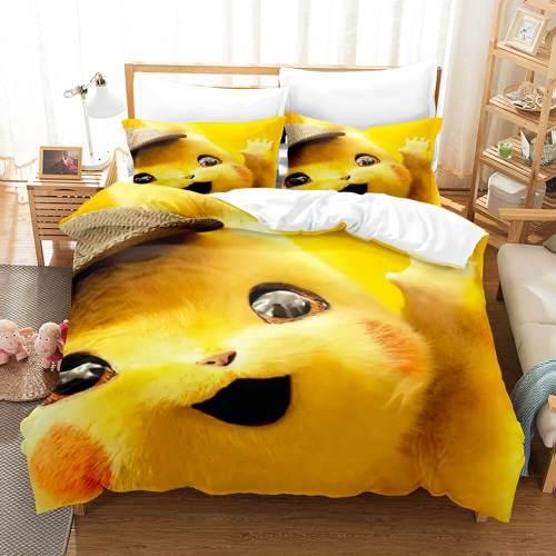 Pokemon Pikachu Cosplay Comforter Bedding Sets Duvet Cover Bed Sheets