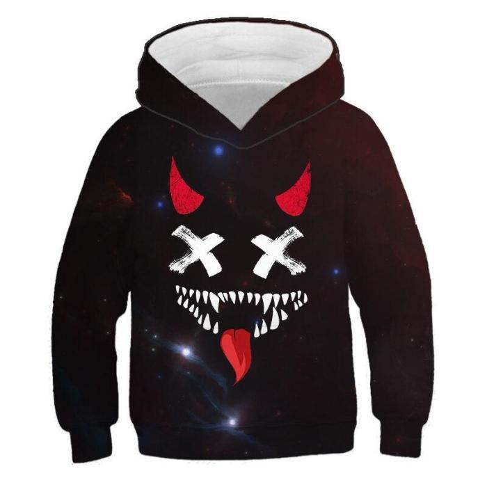 Kids Xo Graffiti 3D Hoodies&Sweatshirts Funny Long Sleeve Hoodie Children'S Clothing Boys/Girl Sweater Cool Tops 4-14T