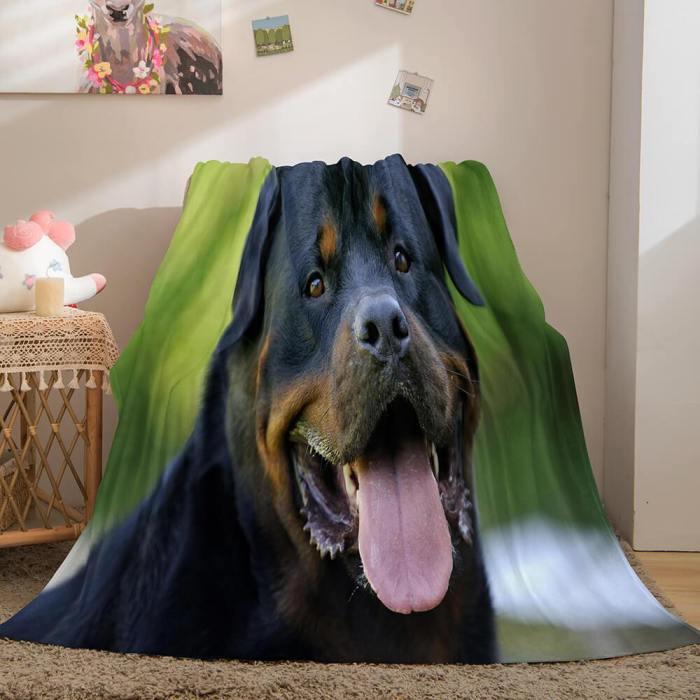 Cute Animals Soft Flannel Fleece Throw Blanket Comforter Bedding Sets