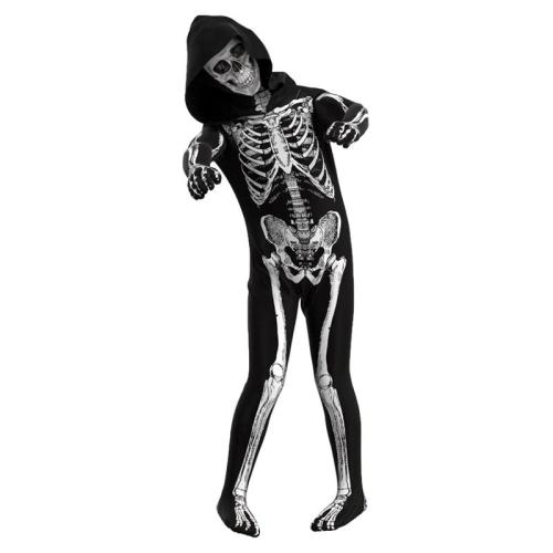 Scary Zombie Cosplay  Costume Skeleton Skull Costumes Jumpsuit Full Sets Halloween Carnival Party Clothing For Kids Adult
