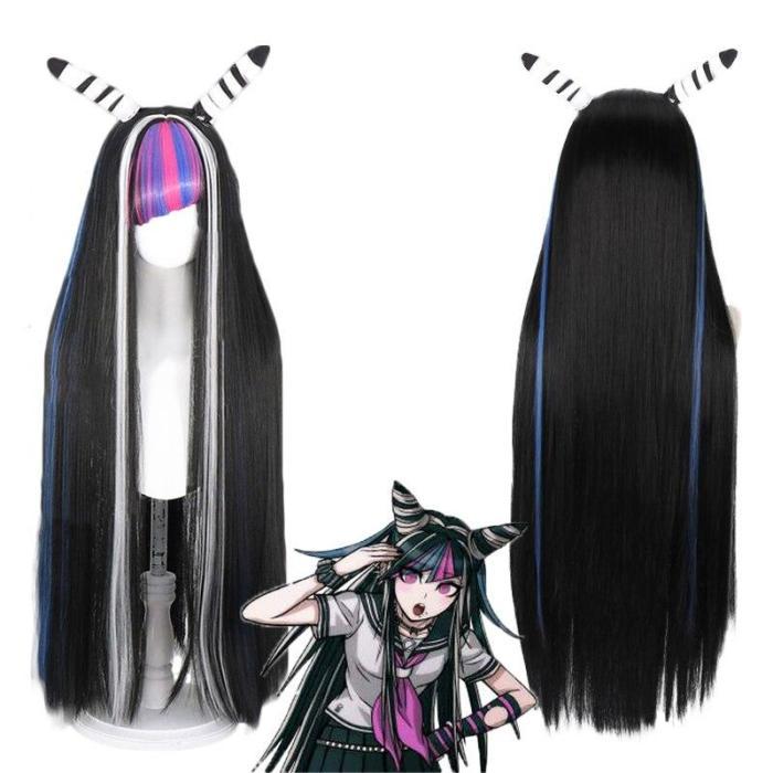 Funny Women 8Pcs Ibuki Mioda Cosplay Custome Dangan Ronpa 2 Goodbye Despair Shirt Dress Wig School Girl Jk Uniform Halloween