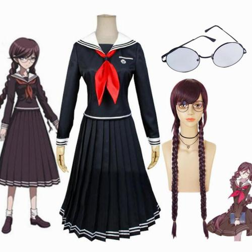 Game Danganronpa Toko Fukawa Cosplay Costume Anime Woman Dresses School Uniform Full Set