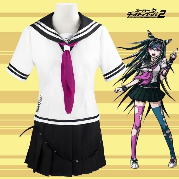 High Quality Super Danganronpa 2 Mioda Ibuki Cosplay Costumes School Uniform Halloween Party Sailor Uniform Jk Uniform