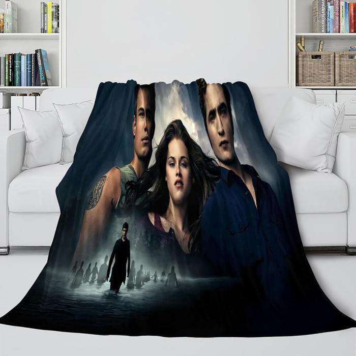 The Twilight Saga Breaking Dawn Cosplay Blanket Flannel Throw Comforter Set