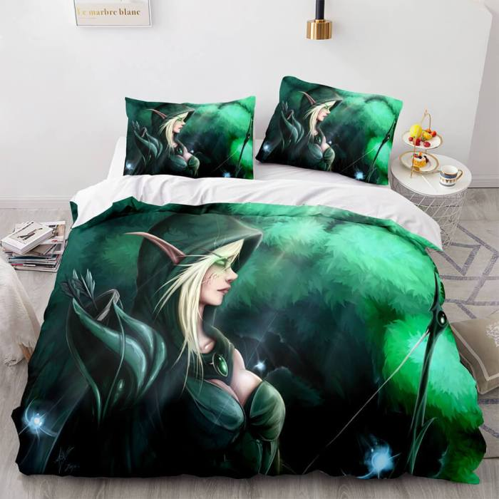 World Of Warcraft Cosplay Bedding Sets Full Duvet Covers Bed Sheets