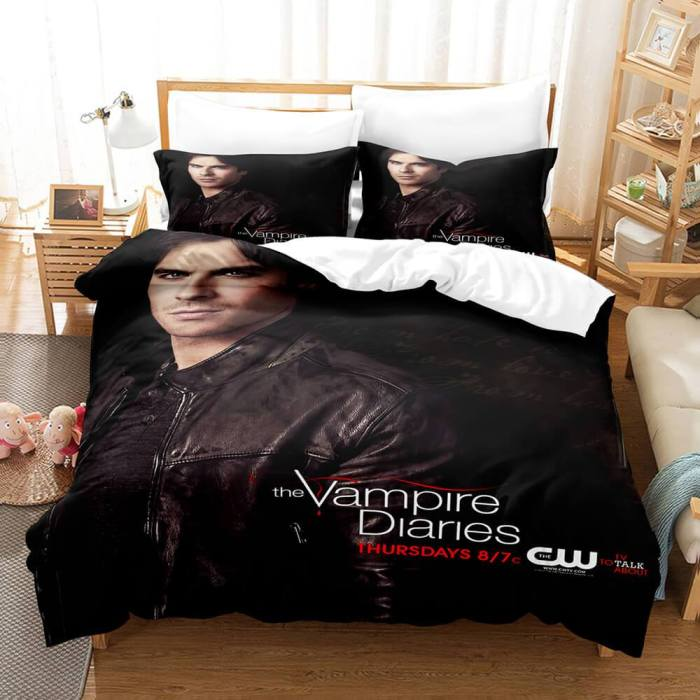 The Vampire Diaries Cosplay Bedding Set Duvet Cover Comforter Bed Sheets