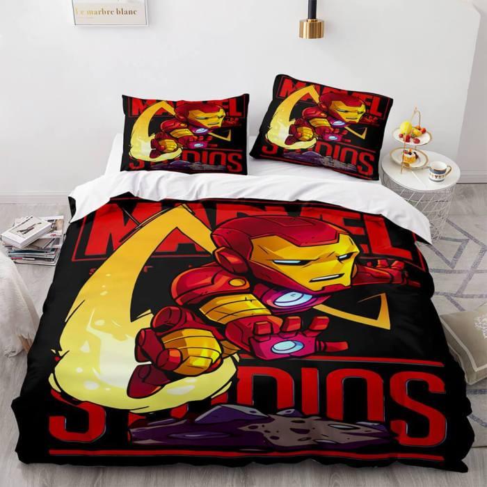 Marvel Comics Cosplay Bedding Set Duvet Cover Comforter Bed Sheets